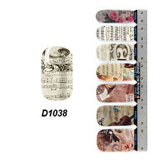 Vintage Self Nail Wraps Stickers Adhesive Polish Foils Decoration Art Decals