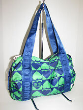 HARAJUKU LOVERS Blue Green Nylon Slouchy Shoulder Bag
