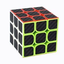 Speed Cube speedcubing iHousekeeper Puzzle Magic Cube carbon fiber 3x3x3 Black