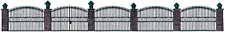 """HO Busch """" WROUGHT IRON """" FENCE with Brick Posts KIT # 6016"""