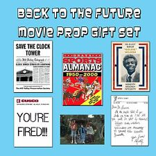 Back to the Future Movie Prop Gift Set McFly Time Machine Clock Tower Flyer Art