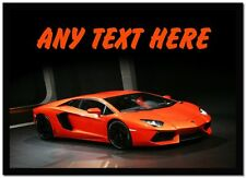 Orange Lamborghini Avantador Personalised Computer Mouse Mat