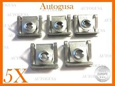 5 PSC NEW OEM UNDER ENGINE COVER CLIPS (GALVANIZED) FOR AUDI, VOLKSWAGEN, SKODA