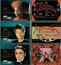 STAR TREK THE NEXT GENERATION SEASON TWO SET OF 6 EMBOSSED CARDS S7-S12