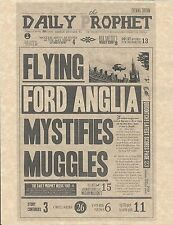Harry Potter Daily Prophet Flying Ford Anglia Flyer/Poster Prop/Replica