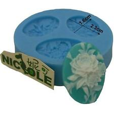 Flexible Flower Cameo Fondant Tools Silicone Mold Cake Decoration DIY Candy