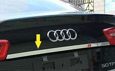 Stainless Steel Rear Tailgate Lid trim Chrome Audi A6 C7 sedan 2012 2013  2014