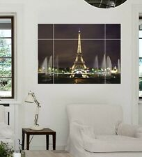 Removable Eiffel Tower Wall Sticker Bedroom Mural Decal Home Deco Art