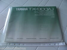 Yamaha TX-900/U Owner's Manual  Operating Instruction   New
