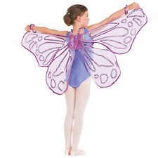 Violet ample pailleté fairy wings-papillon danse costume