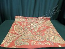 """1 Pottery Barn Red Paisley Floral Flower Sofa Throw Pillow Cover 24"""" Square NEW"""