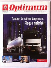 """Le Magazine Renault Trucks """"optimum"""" Transport de matière dangereuse"""