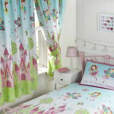 "FAIRY PRINCESS 'SLEEPING' 66"" x 72"" LINED CURTAINS NEW WITH TIE-BACKS GIRLS"