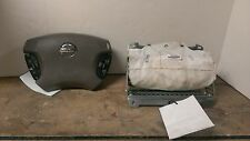 03 04 Nissan Altima Air Bag Set  Wheel Bag With Audio & Cruise Dash Bag Tan OEM
