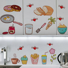 Food Pattern Removable Waterproof Kitchen Tile Decor Wall Stickers Decal Mural