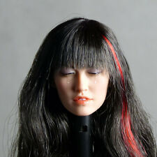 1/6 Scale Phicen Tomorrow Figure Pale Female Head Sculpt w/ Closed Eyes & Tears
