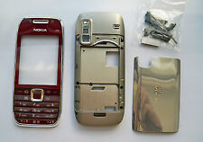 Red Fascia Faceplate Cover Housing Case facia for Nokia E75     -008089  -0991