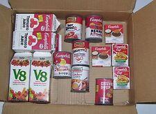 LOT OF PRESCHOOL PRETEND PLAY CAMPBELLS' KITCHEN GROCERY TOY FOOD LOT 14 PIECES