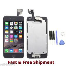 "Black LCD Touch Screen Display Digitizer Assembly for iPhone 6 4.7"" Home Button"