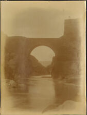 ALGERIE PHOTO VINTAGE GRAND FORMAT PONT ROMAIN EL KANTARA BISKRA 28 AVRIL 1902