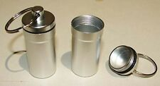2 x Metal Pill Box, Small Storage Box, Medicine Bottle Holder, Earplug Box