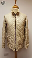 #624 Mens Barbour D917 Flyweight Diamond Quilted Beige Short Jacket, Large