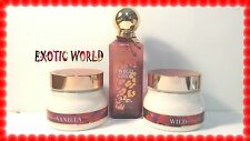 BATH AND BODY WORKS WILD MADAGASCAR VANILLA PERFUME MIST & 2 BODY SOUFFLES
