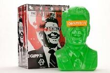 THE GIPPER GREEN LIMITED EDITION DESIGNER VINYL ART BUST BY ARTIST FRANK KOZIK