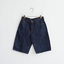 Vtg EVISU Shorts Size W34 Casual Blue Embroidered Denim