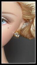 JEWELRY  BARBIE HOLLYWOOD FAUX  GOLD DIAMOND STUD EARRINGS JEWELRY EARRINGS