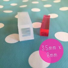 SILICONE MOLD - 35mm X 8mm square Bar Tube Resin Jewellery  Mould Jewelry