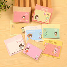 Lovely 2 Sets Cartoon Memo Pad Sticky Notes Paper School Home Office Supplies