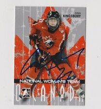 ITG O Canada Gina Kingsbury Team Canada Women's Hockey Autographed Card