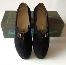 Salvatore Ferragamo vintage scarpe decolletè nere camoscio numero 38