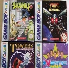 4 NEW Gameboy Color Games Towers Shamus Yars NSync NEW
