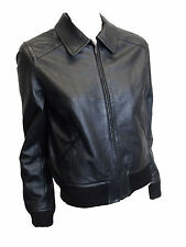 LADIES FAUX LEATHER JACKET in BLACK COLOR SIZE12 (D-58)