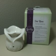 Scentsy Tea Rose Plug In Size Warmer Used A Few Times In Box