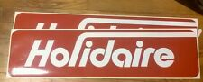 """Holidaire Travel Trailer Red & White Vintage Style  Reproduction decal 24"""" set 2"""