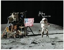 SALE !! Beautiful Apollo 16 Astronaut John Young Signed Photo