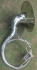 "Nickel Sousaphone 20"" Bb  "" Chopra "" PLATED 3 V WITH BAG MOUTH PIECE FAST SHIP"