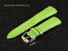 Authentic TechnoMarine 1036 Genuine 17 mm Green Strap W/ Buckle