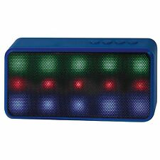 Lyrix Prysm Wireless Bluetooth Speaker with Dazzling LED Lights - Blue