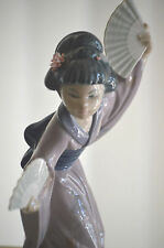 Lladro Figurine JAPANESE WITH FAN GEISHA MADAME BUTTERFLY #4991 Retired