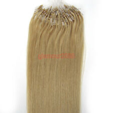 "New 100s 16-26"" Easy Loop Micro Rings Beads Remy Human Hair Extensions Straight"