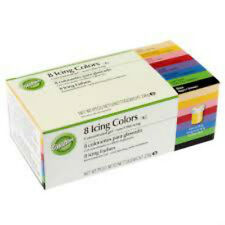 Wilton Icing Colour Gel Paste - For Cake & Cupcake Decorating - Set of 8 Colours