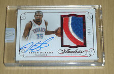 2014-15 2015 Panini FLAWLESS encased Kevin Durant RUBY RED autograph PATCH 12/15