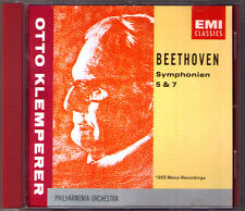 Otto KLEMPERER: BEETHOVEN Symphony No.5 & 7 EMI CD Sinfonien Philharmonia 1955