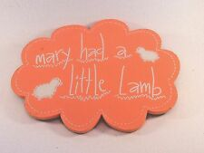 Mary Had A Little Lamb Pink Wood Sign Christma Birthday Gift Baby Girls Room