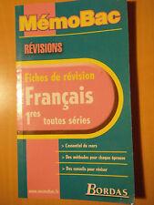 MémoBac Français 1ères Toutes Séries - Fiches De Révision
