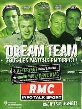 Publicité Advertising 2007 radio RMC info talk sport n)1 sur le sport